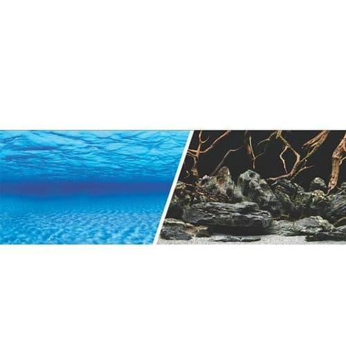 Marina Double Sided Aquarium Background, Sea Scrape/Natural Mystic